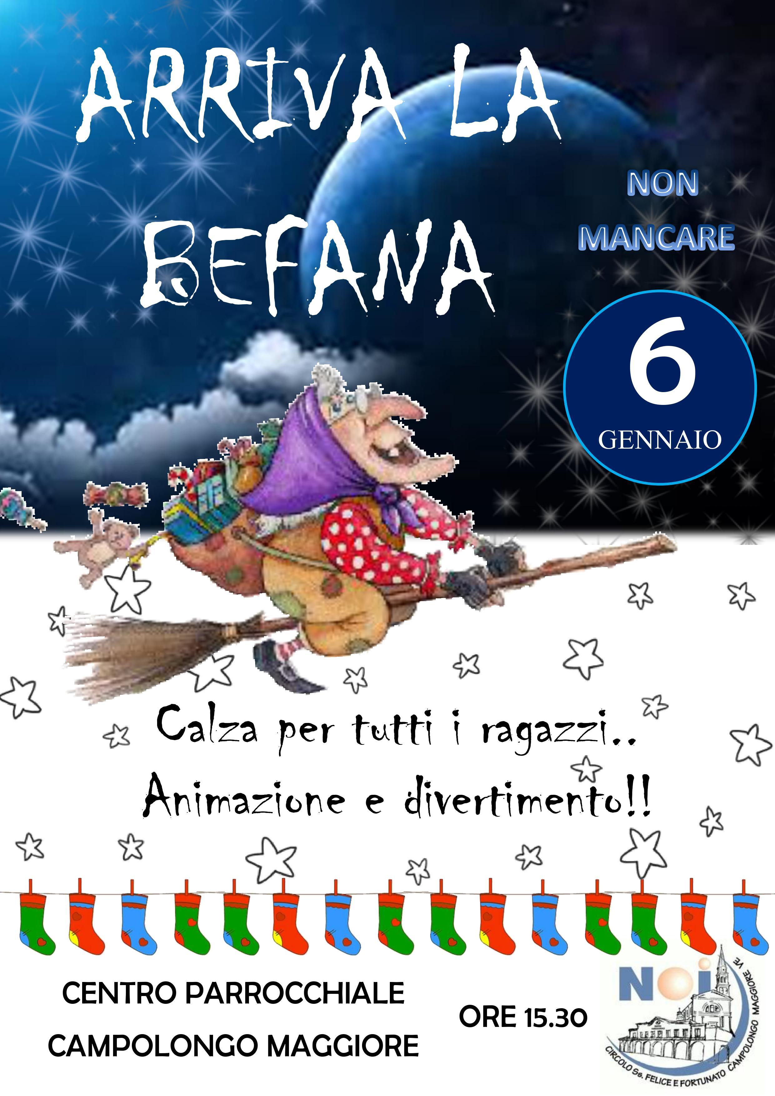 Arriva La Befana 6 Gennaio 2019 Parrocchia Di Campolongo Maggiore